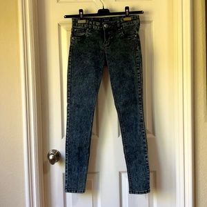 [STS Blue] Acid Wash High-Waist Skinny Jeans